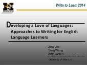 Write to Learn - Freewriting - 2014