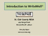Write well overview training