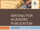 Writing for Academic Publication