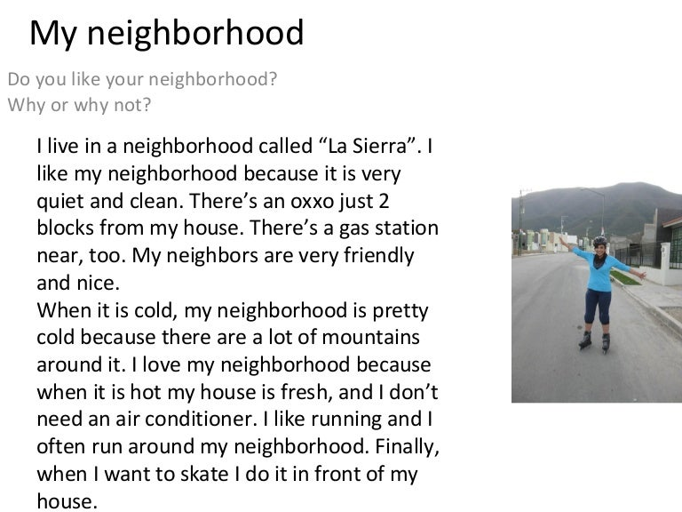 Essay in spanish on my house