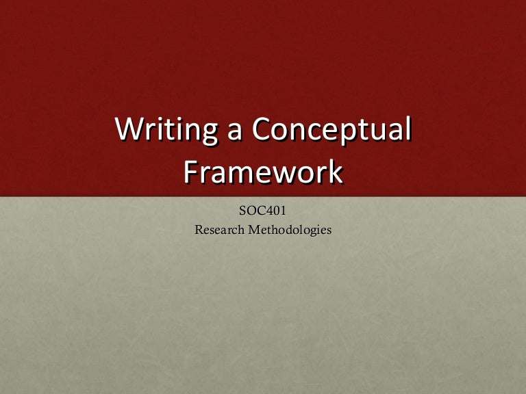 Theoretical framework sample research paper