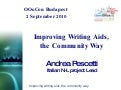Improving writing aids, the community way