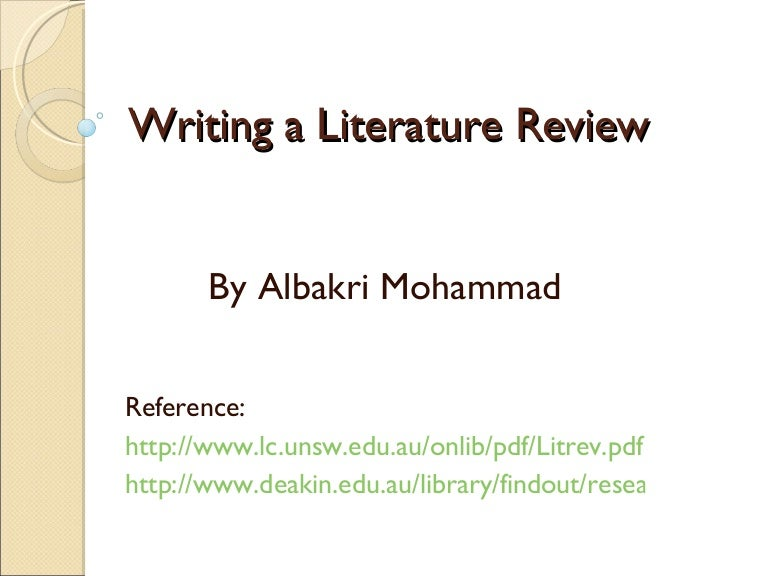 How to start writing a literature review?