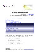 Writing a Literature Review- handout