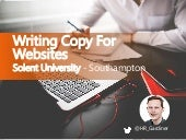 Writing copy for websites