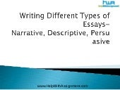 Writing different types of essays  ...
