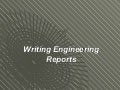 Writing engineering report