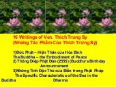 16 titles of Thich Trung Sy's Writings
