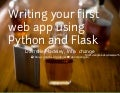 Writing your first web app using Python and Flask