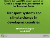 Transport systems and climate chang...