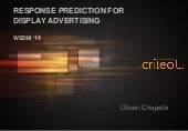 Response prediction for display advertising - WSDM 2014