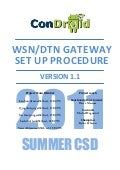 Condroid WSN/DTN Gateway - Work Procedure