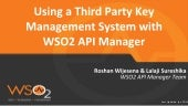 Using a Third Party Key Management System with WSO2 API Manager