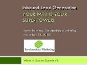 Inbound Marketing: Your Path is You...