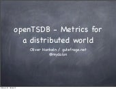 openTSDB - Metrics for a distributed world