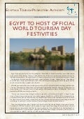 Press Release  - World Tourism Day IN Aswan 27 septemper