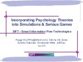 Peggy Wu - Incorporating Psychology Theories into Simulations & Serious Games
