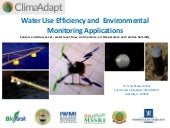 Water Use Efficiency Sensors and concepts