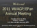 WVAGP Welcome & Introductions Day 1 (epan 2011)