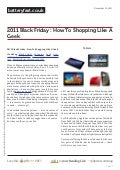 Www.batteryfast.co.uk - 2011 Black Friday : How To Shopping Like A Geek