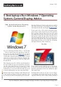 Www.batteryfast.co.uk- 5 Best laptops Run Windows 7 Operating System, General Buying Advice