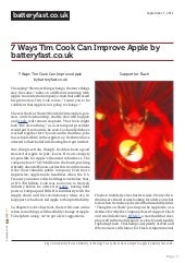 7 Ways Tim Cook Can Improve Apple b...