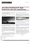 www.batteryfast.co.uk-Acer Aspire S3 Ultrabook VS. Apple MacBook Air, Ultra-thin Laptop Review