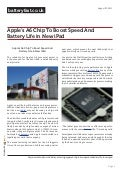 Www.batteryfast.co.uk - Apple's A6 Chip To Boost Speed And Battery Life in New iPad