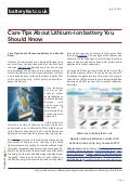Www.batteryfast.co.uk care tips about ithium-ion battery you should know