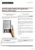 www.batteryfast.co.uk-E-Book reader battery life questions | Battery Technology