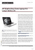 Www.batteryfast.co.uk HP Redefine Envy Series Laptops For Longer Battery Life