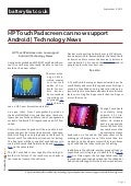 Www.batteryfast.co.uk- HP TouchPad screen can now support Android | Technology News