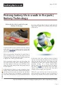 Www.batteryfast.co.uk - Prolong battery life is a walk in the park | Battery Technology
