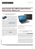www.batteryfast.co.uk-Sony Unveils 15.5″ VAIO S Laptop Review, With 12 Hour Battery Life
