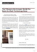 www.batteryfast.co.uk-Top 5 Reasons the Amazon Kindle Fire Beats the iPad | Technology News