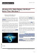 www.batteryfast.co.uk-Windows 8 to Make Battery Life Much Better Than Windows 7