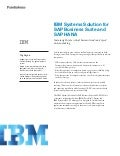 IBM Systems Solution for SAP Business Suite and SAP HANA