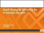 XaaS Success Services for Profitable Growth
