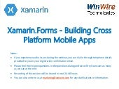 Xamarin.Forms - Building Cross Platform Mobile Apps