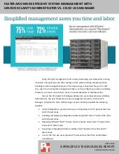 Faster and more efficient Flex System management with Lenovo XClarity Administrator vs. Cisco UCS Manager