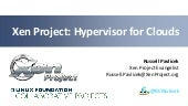 Xen Project Hypervisor for the Cloud