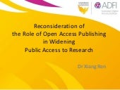 Open Access Publishing and Widening Public Access to Research