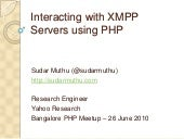 Interacting with XMPP using PHP