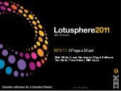 XPages Blast - Lotusphere 2011