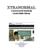 Xtranormal library program