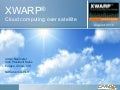 Xwarp™   cloud computing over satellite