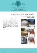 ROCCA ROCCA PANTHERA, 1974, 6.000 € For Sale Brochure. Presented By yachting.vg