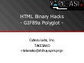 HTML Binary Hacks & GIF89a Ployglot