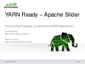 YARN Ready - Integrating to YARN using Slider Webinar