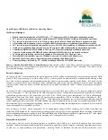 Antero Resources 2012 Financial and Operating Results